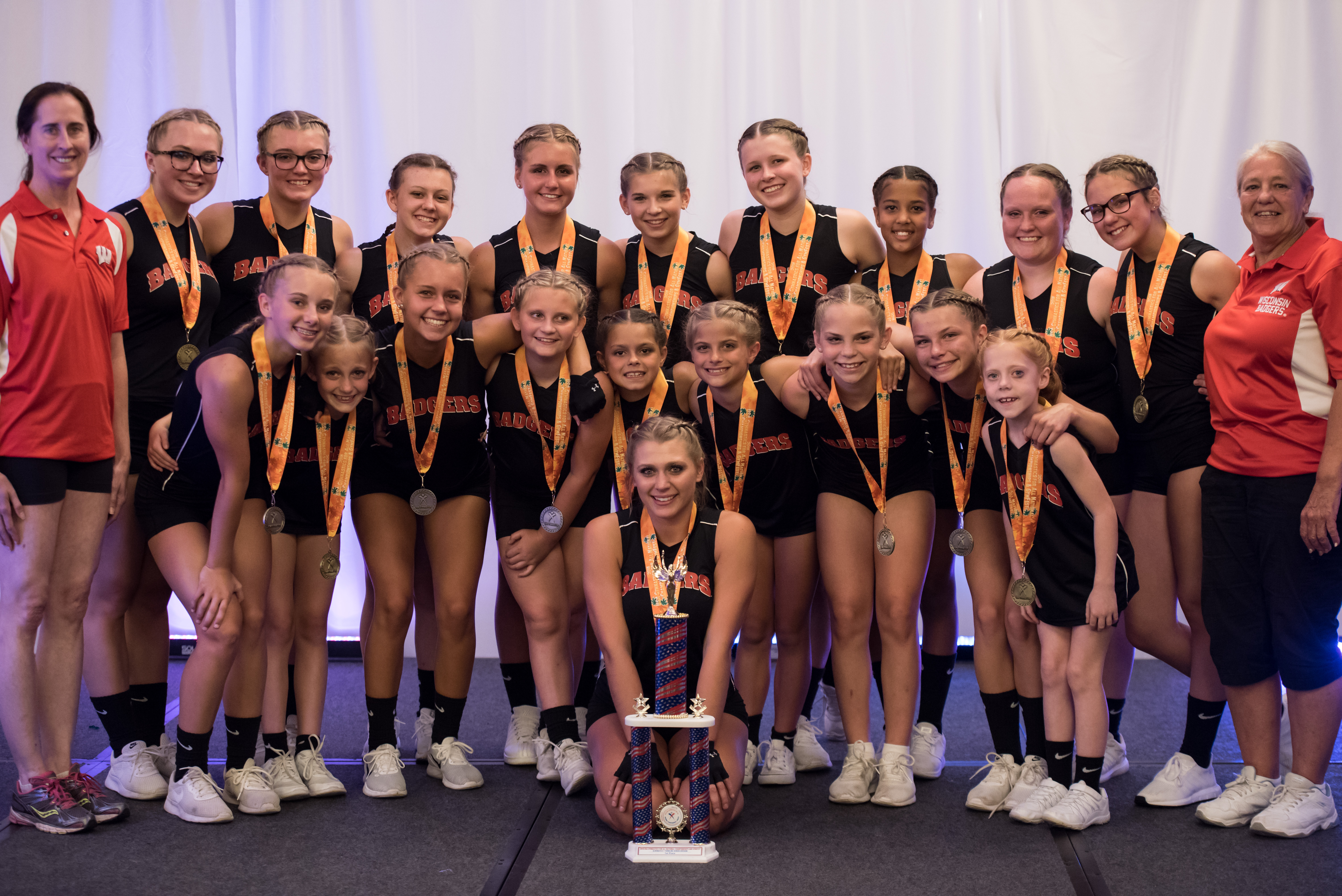 West Bend Dance Tumbling Troupe USA Gymnastics Acro and Tumbling National Champions